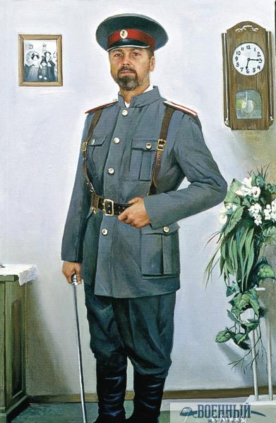 Автопортрет в форме белого офицера