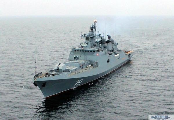 Фрегат «Адмирал Эссен» в море