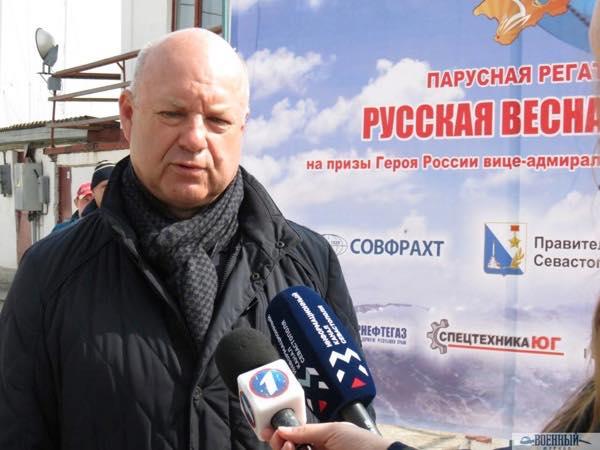 Президент Федерации парусного спорта Севастополя Валерий Зубков