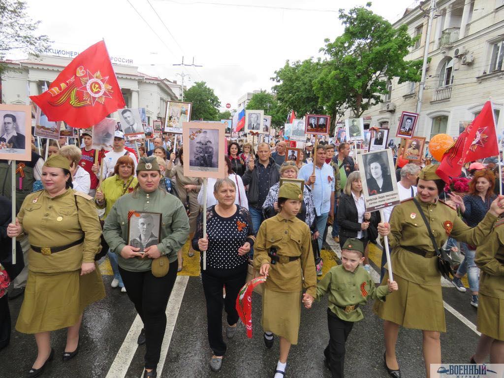 Бессмертный полк в Севастополе