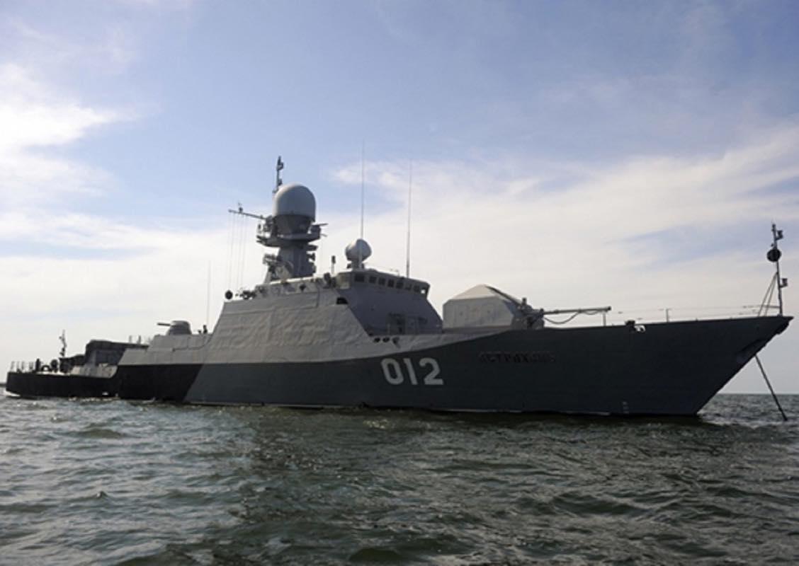 На Каспийской флотилии прошли учения