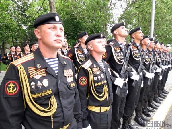 Морские пехотинцы в строю