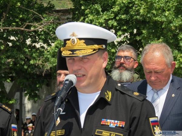 Первый заместитель командующего флотом контр адмирал Виктор Лиина