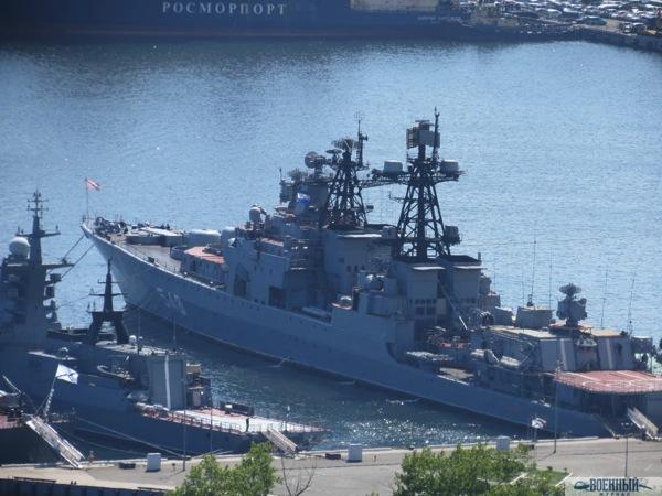 Корабли Тихоокеанского флота у причала