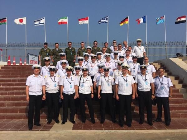 Экипаж «Эпрона» на международных учениях