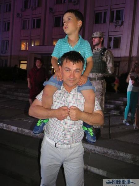 Алексей Ярусов с сыном