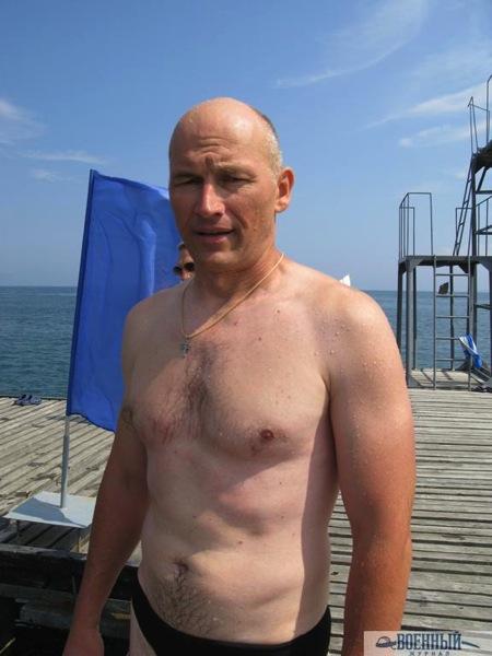 Олег  Буданов после заплыва
