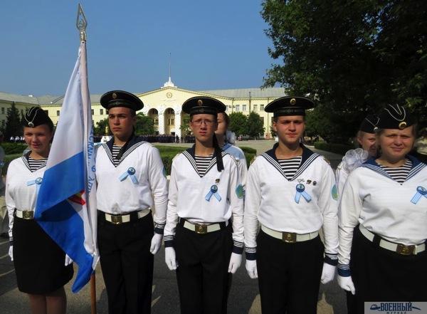 Юные моряки в строю