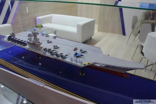 Концепт модель разработанного крыловцами легкого авианосца