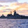 Ракетный крейсер Северного флота «Маршал Устинов» вышел в Атлантический океан